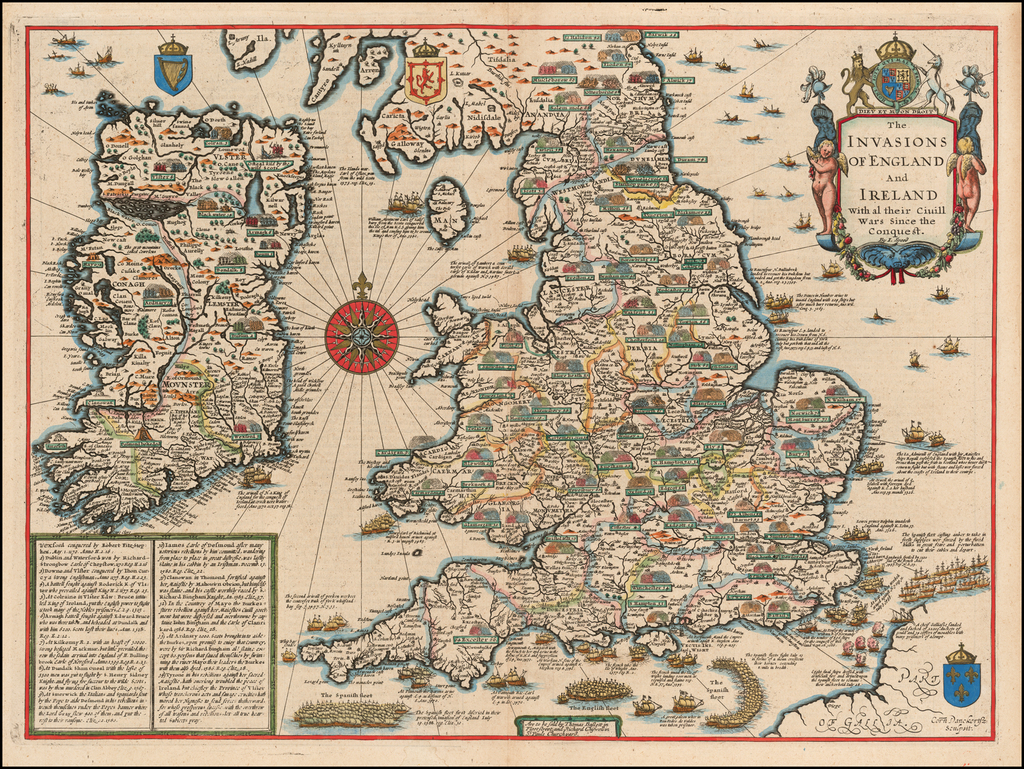The Invasions of England and Ireland with al their Civill Wars Since the Conquest  By John Speed