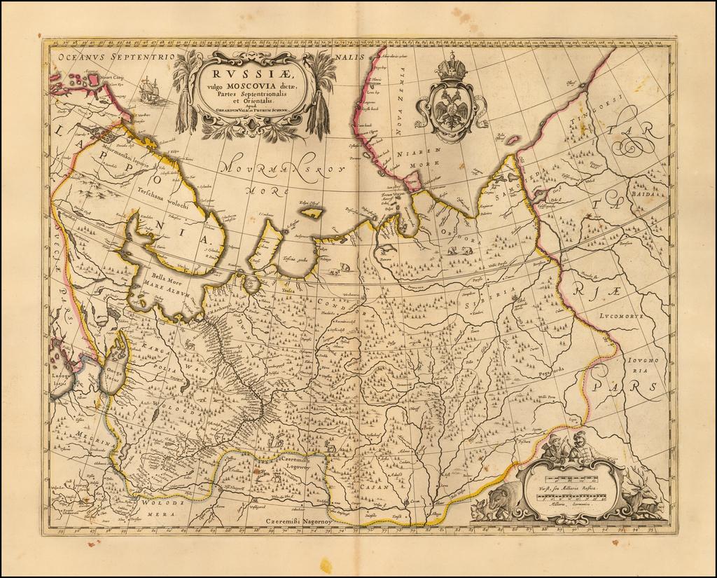 Russiae, vulgo Moscovia dictae, Partes Septentrionalis et Orientalis  . . .  By Peter Schenk / Gerard Valk