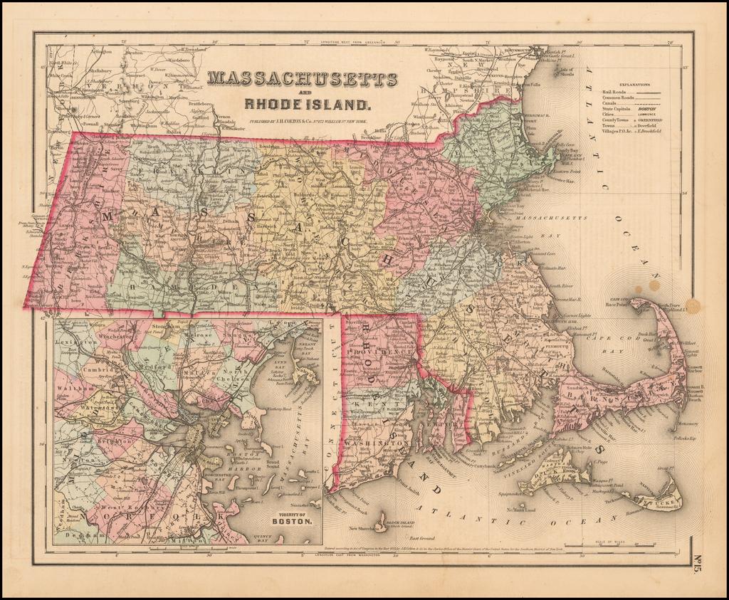 Massachusetts and Rhode Island By Joseph Hutchins Colton