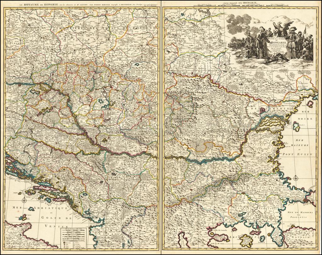 Theatre de la Guerre en Hongarie Transilvanie &c By Pieter Mortier