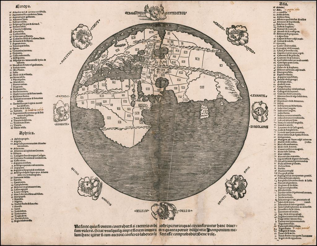 [World Map of Pomponius Mela] By Anonymous / Pomponius Mela