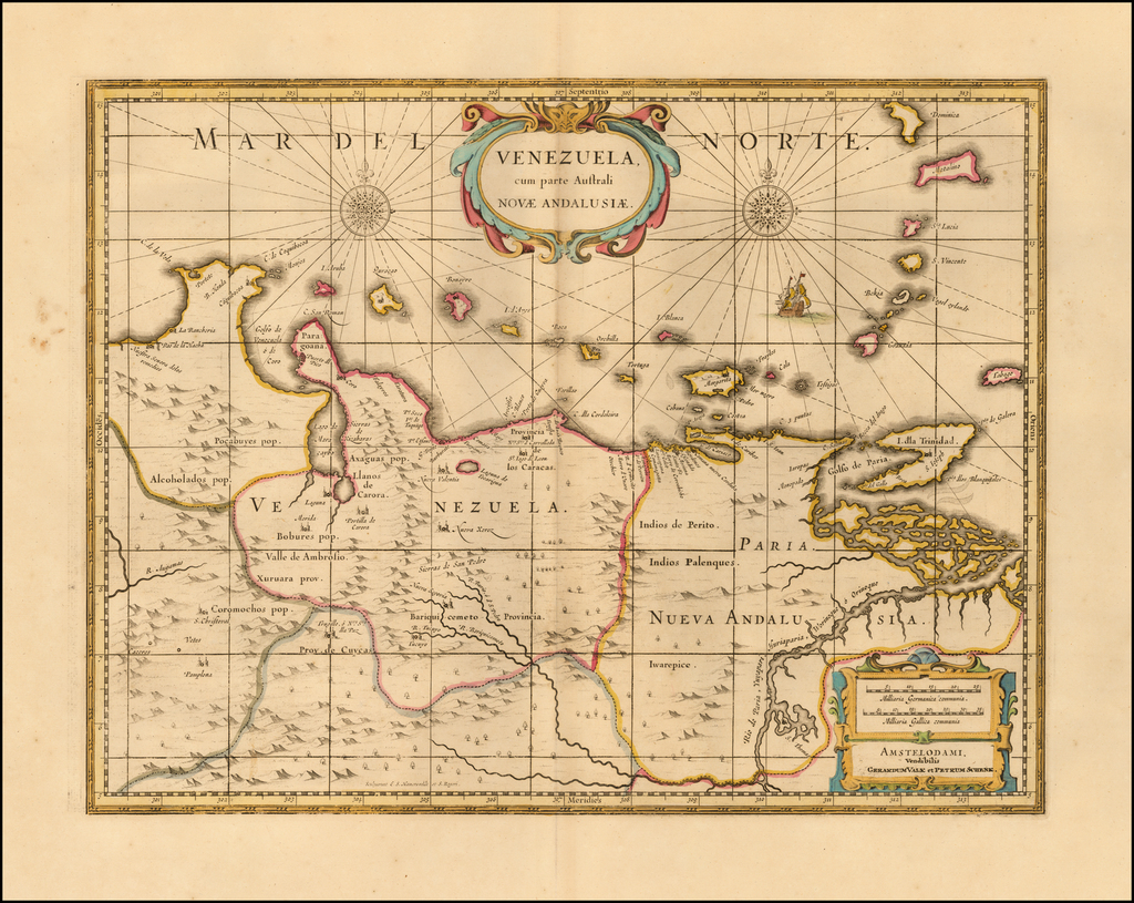 Venezuela cum parte Australi Novae Andalusiae  By Peter Schenk  &  Gerard Valk