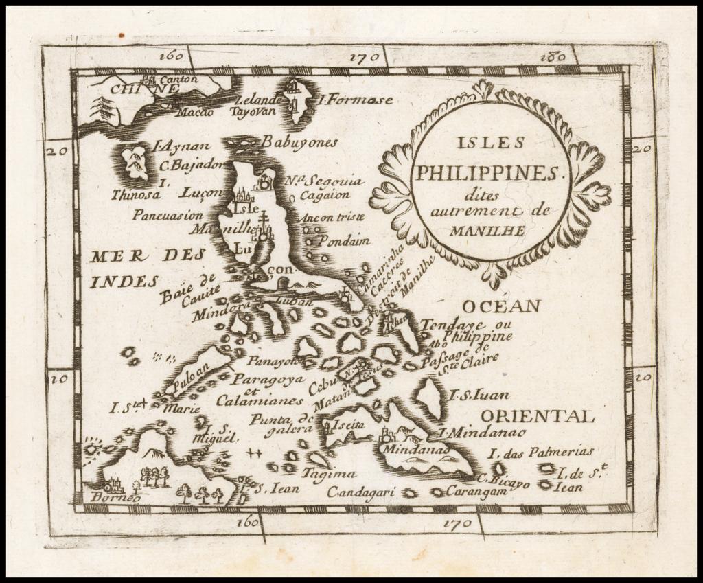 Isles Philippines dites autrement de Manilhe By Pierre Du Val