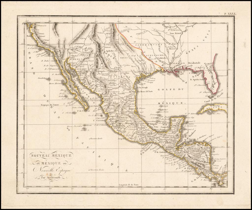 Nouveau Mexique et Mexique ou Nouvelle Espagne Par Arrowsmith By Anonymous