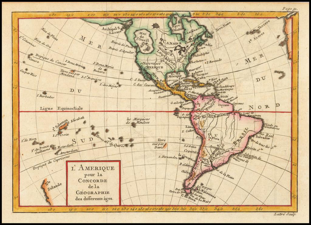 [Bay of the West] L'Amerique pour la Concorde de la Geographie des different ages. By Noel-Antoine Pluche