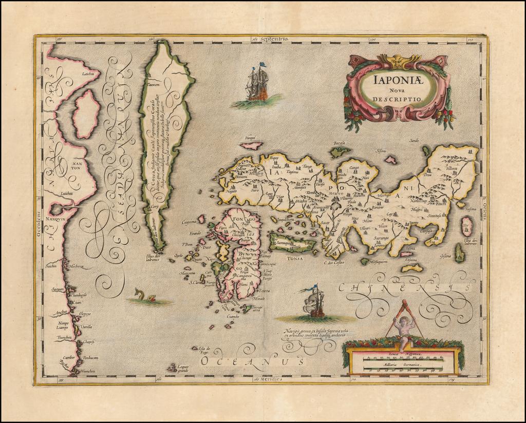 Iaponiae Nova Descriptio  [Korea as an Island] By Jan Jansson