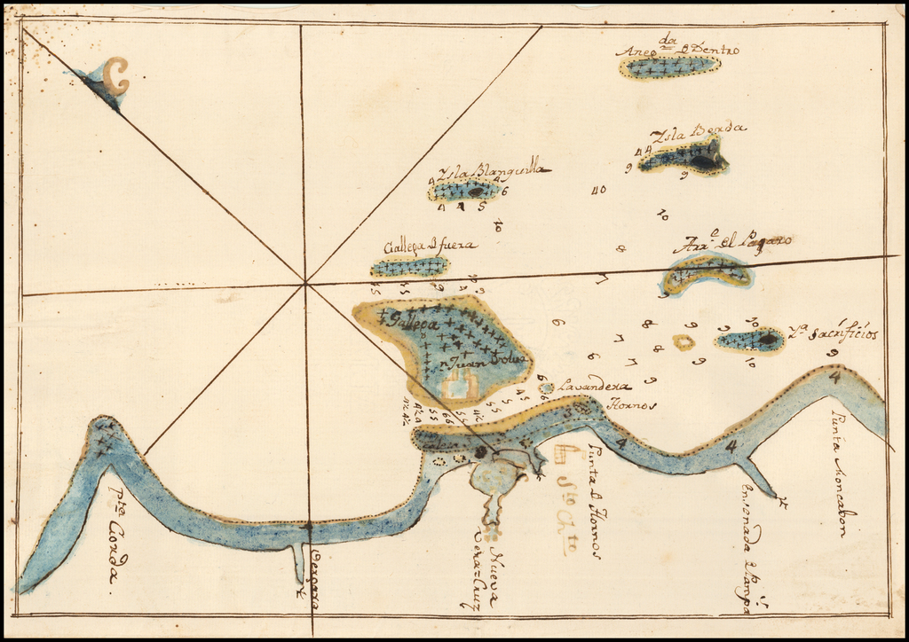 (Veracruz and Vicinity) (Manuscript Map) By Anonymous