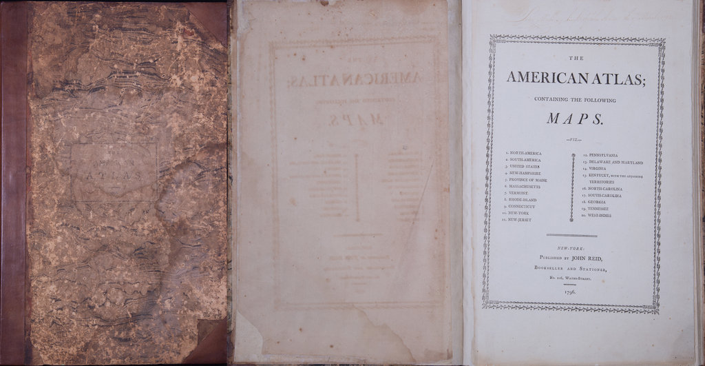 The American Atlas; Containing The Following Maps. By John Reid