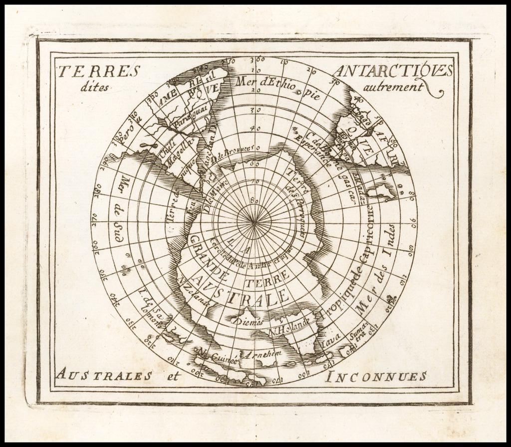 Terres Antarctiques dites autrement Australes et Inconnues  By Pierre Du Val