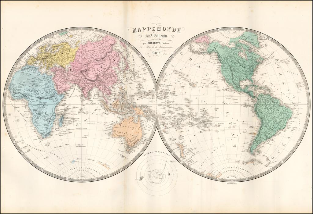 Mappemonde par A. Vuillemin… By Alexandre Vuillemin