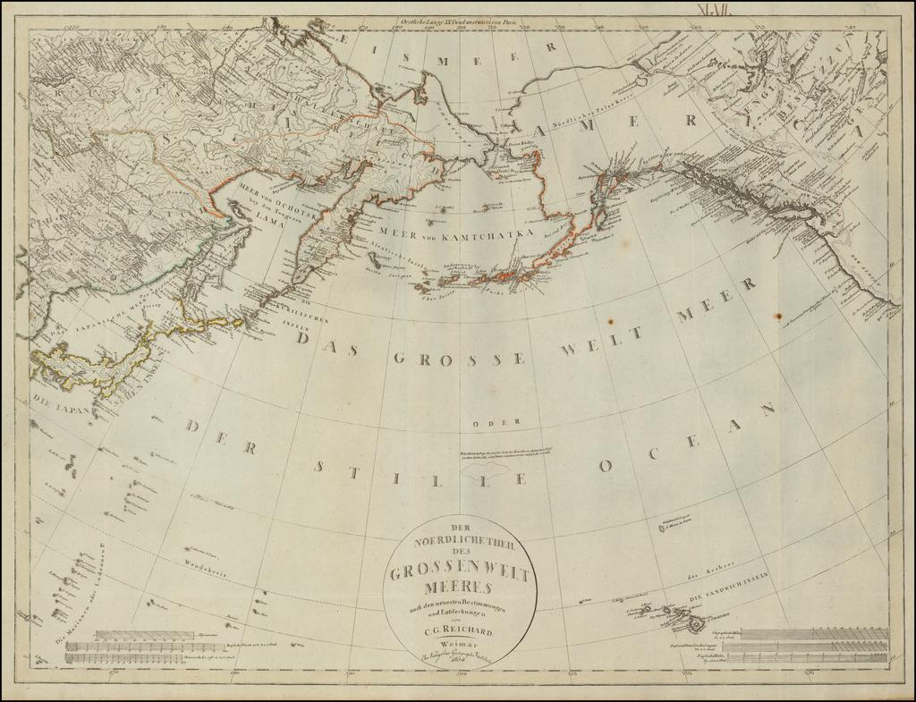 Der Noerdliche Theil des Grossenwelt Meeres . . . 1804 By Christian Gottlieb Reichard