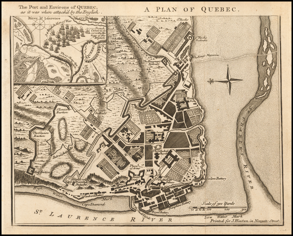 A Plan of Quebec By Universal Magazine