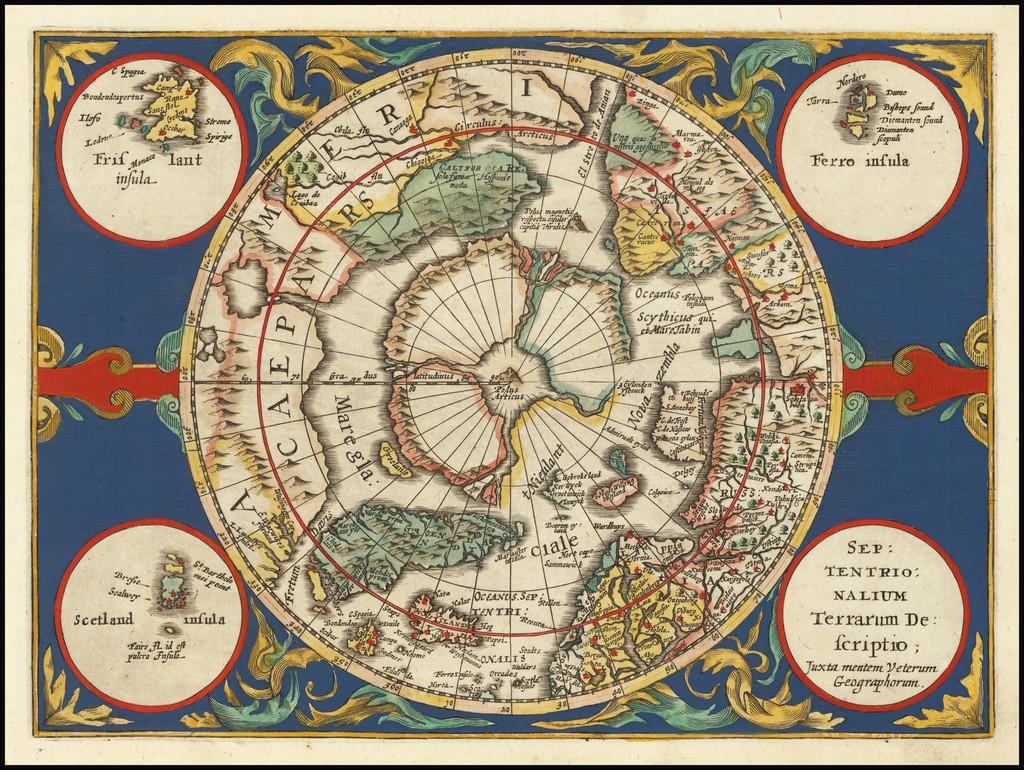 Septentrionalium Terrarum descriptio By Johannes Cloppenburg
