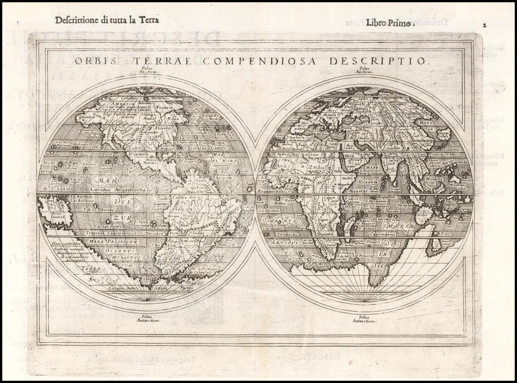 Orbis Terrae Compendiosa Descriptio By Giuseppe Rosaccio