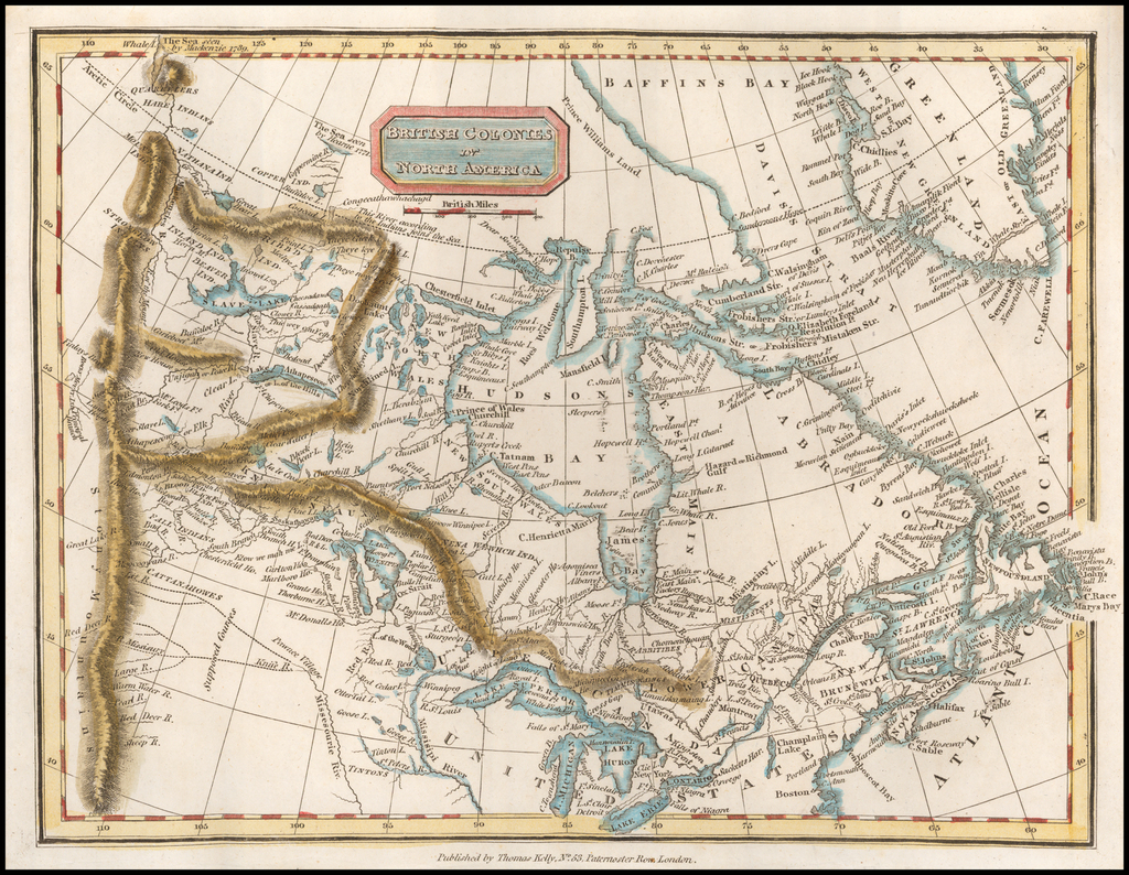 British Colonies in North America By Thomas Kelly