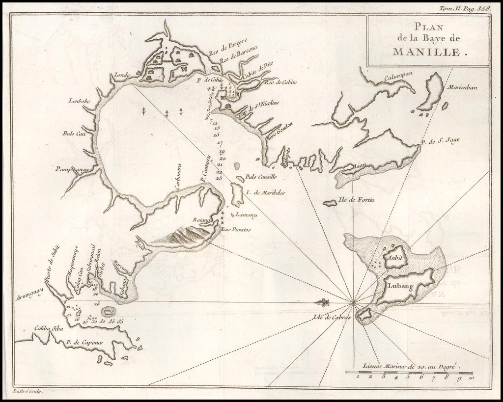 Plan de la Baye de Manille By George Anson