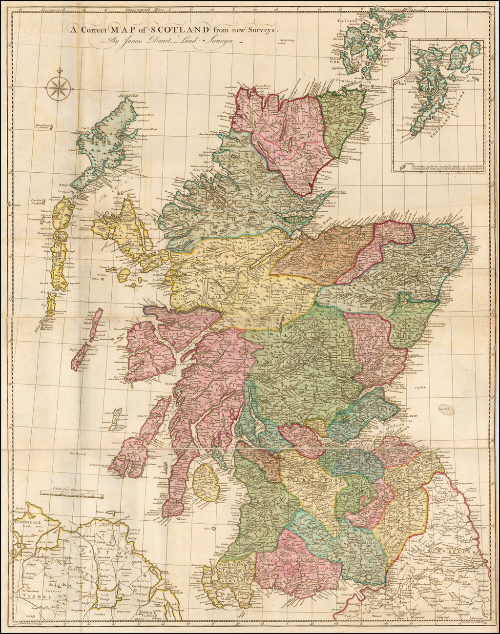 A Correct Map of Scotland from new Surveys. By James Dorret, Land Surveyor. By James Dorret