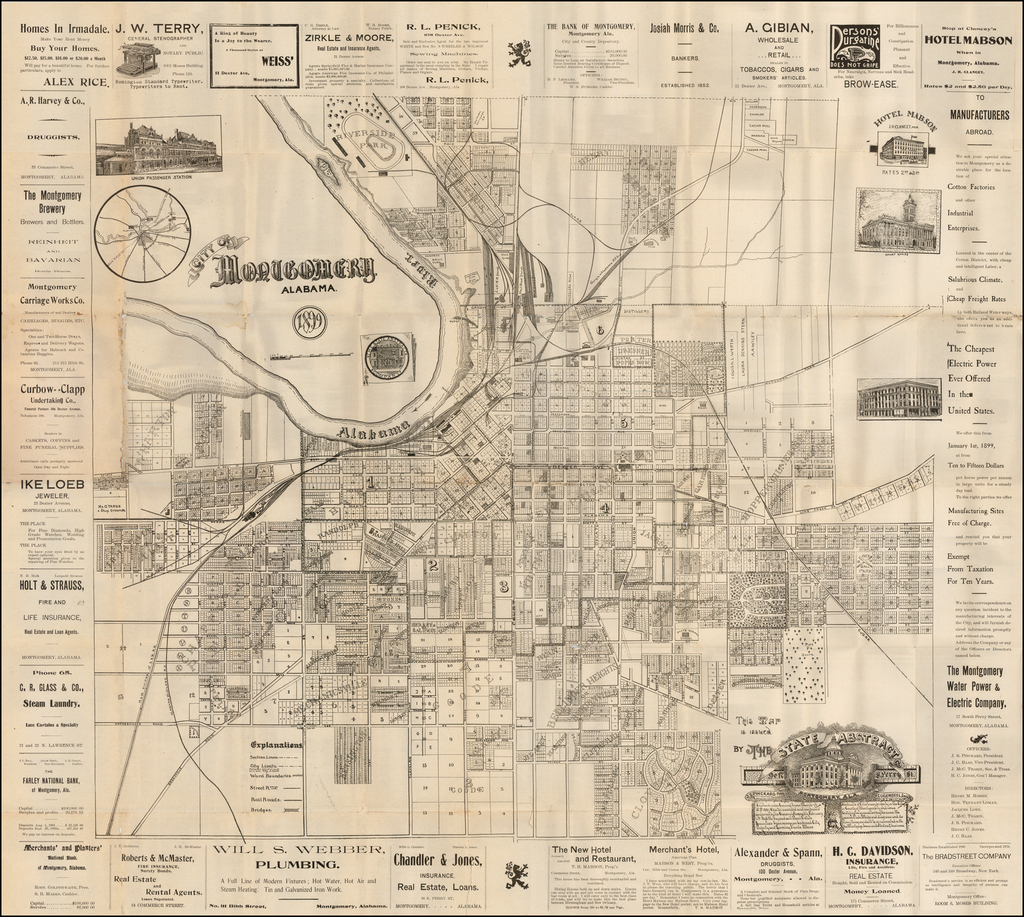 City of Montgomery Alabama 1899 By State Abstract Company