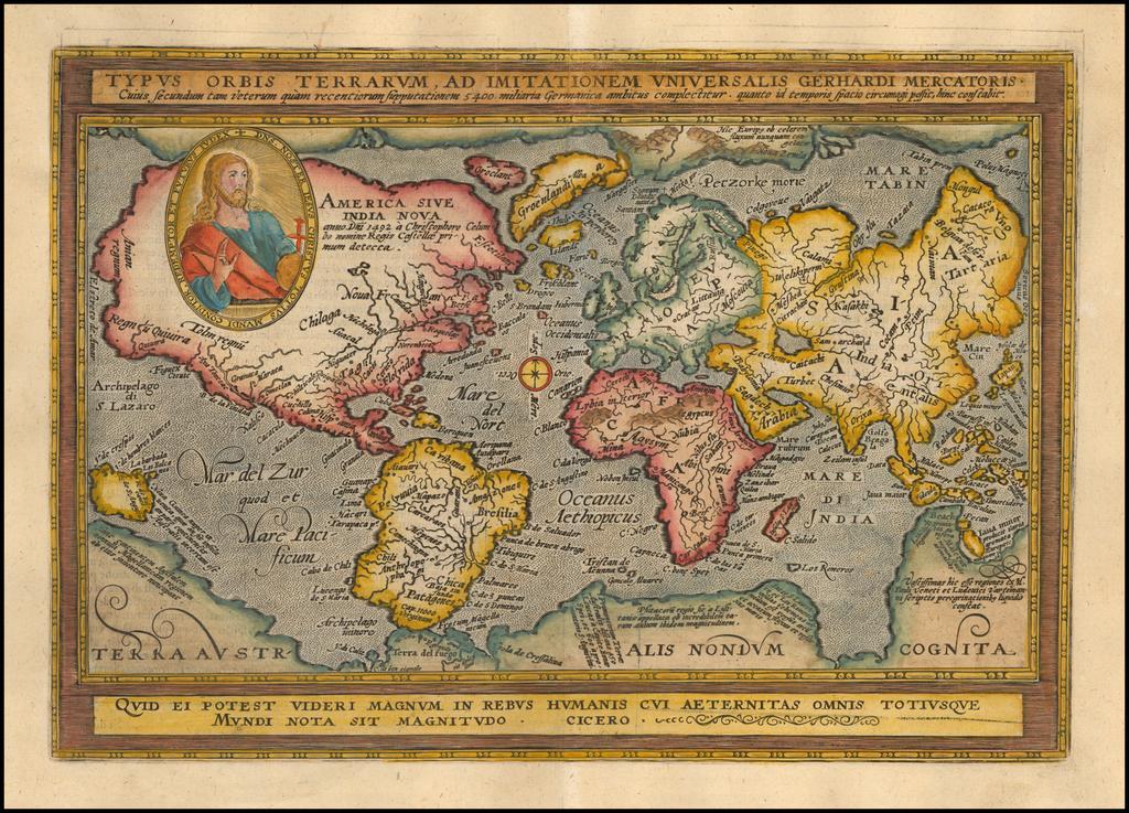 Typus Orbis Terrarum Ad Imitationem Universalis Gerhardi Mercatoris . . .  By Matthias Quad / Johann Bussemachaer