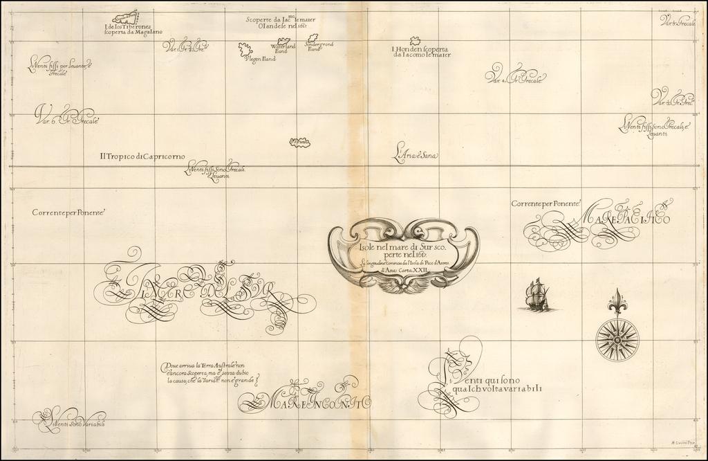 Isole nel mare di Sur scoperte nel 1617 . . .  By Robert Dudley