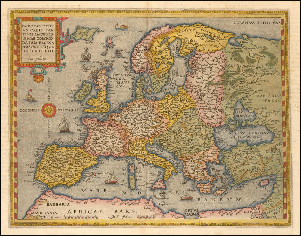 Europae Totius Orbis Partium Amoenissimae, Commoda Iam Recens Absolutque Descriptio By Gerard de Jode