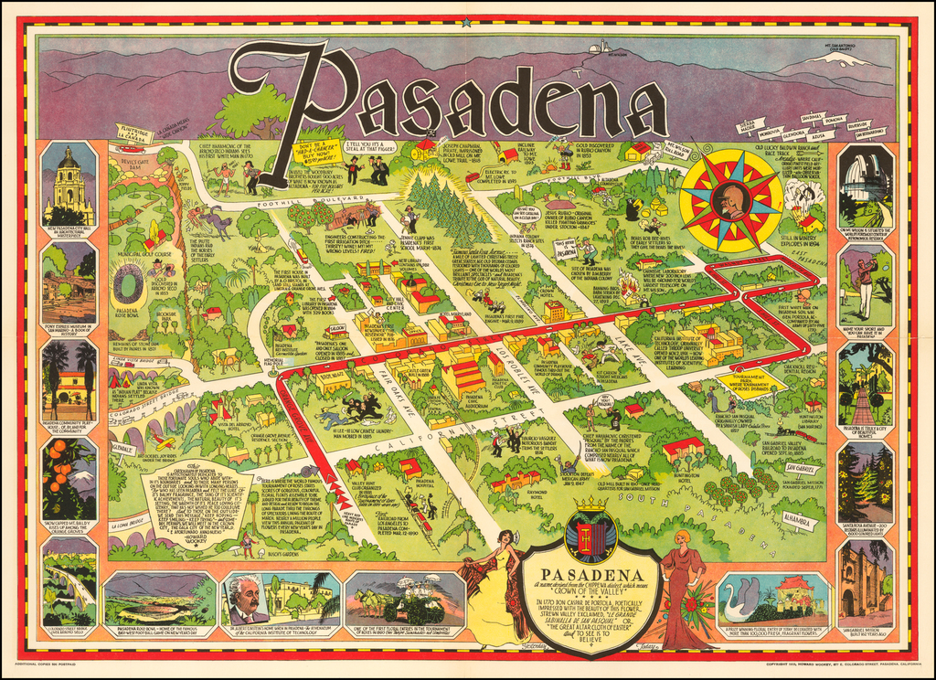 """Pasadena A name derived from the Chippewa dialect which means """"Crown of the Valley"""" . . .  By Howard Wookey"""