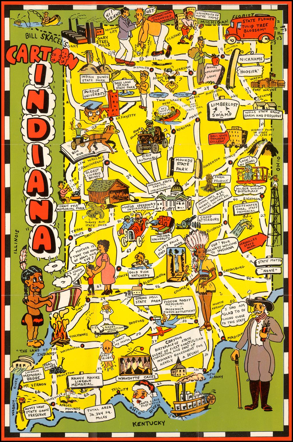 Bill Skacel's Cartoon Indiana  By Bill Skacel