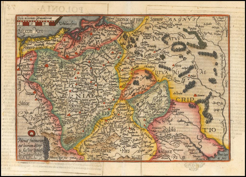 Poloniae finitimarumque locorum descriptio Auctore Wenceslau Godretcio . . . By Matthias Quad