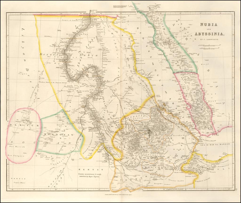 Nubia & Abyssinia By John Arrowsmith