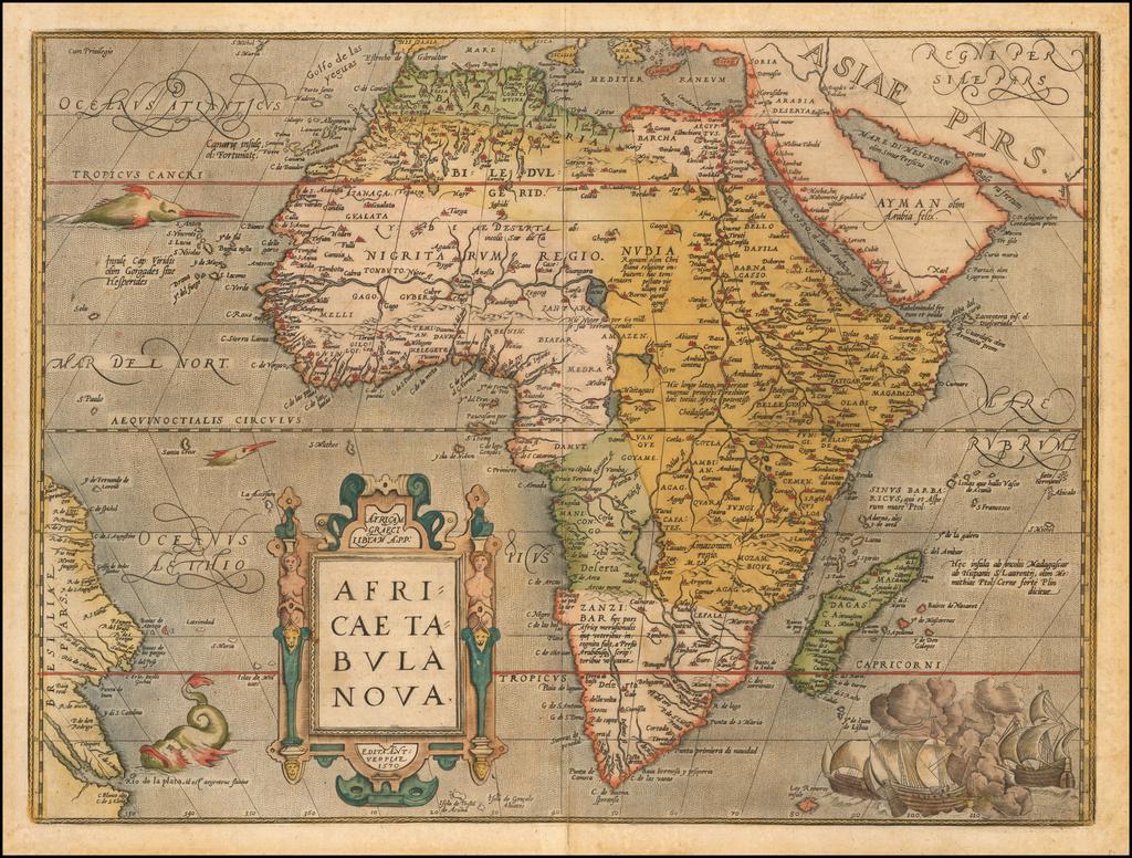 Africae Tabula Nova By Abraham Ortelius