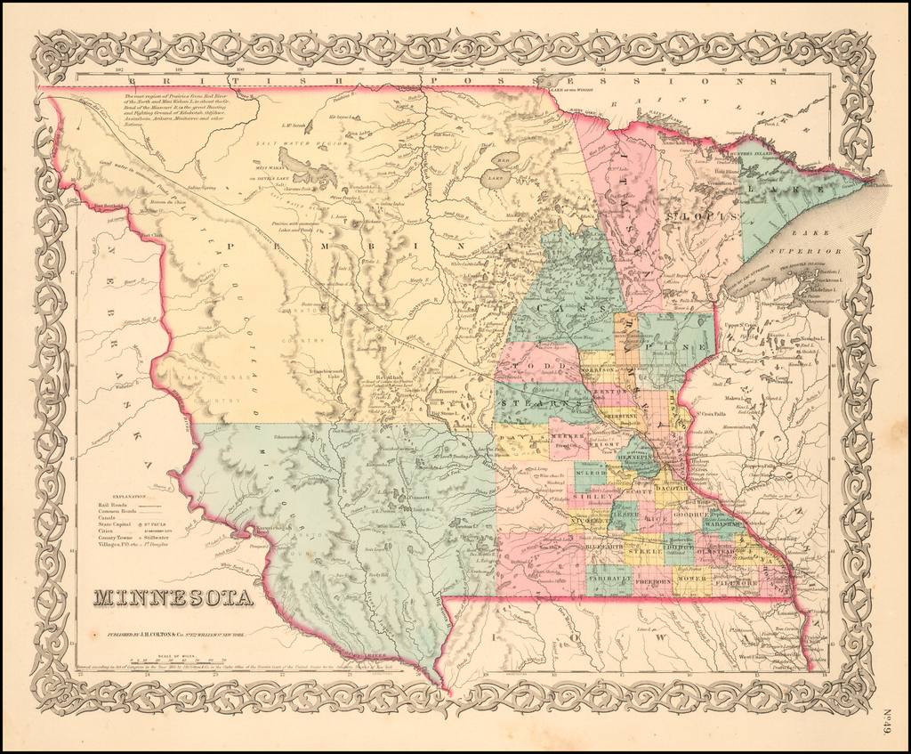 Minnesota  By Joseph Hutchins Colton