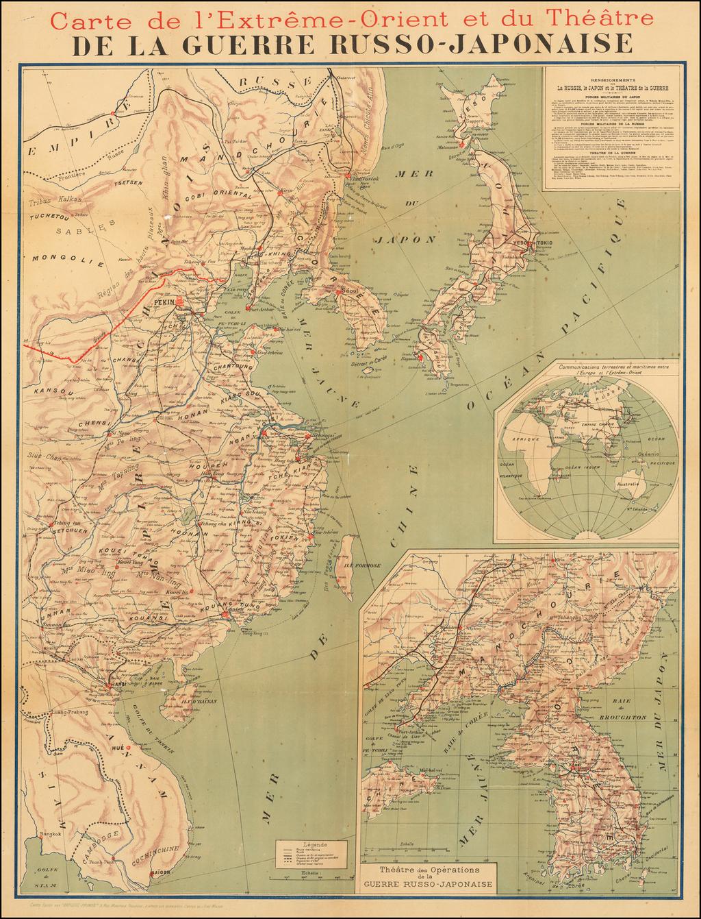 Carte de l'Extreme-Orient et du Theatre De La Guerre Russo-Japonaise By Artistic-Primes