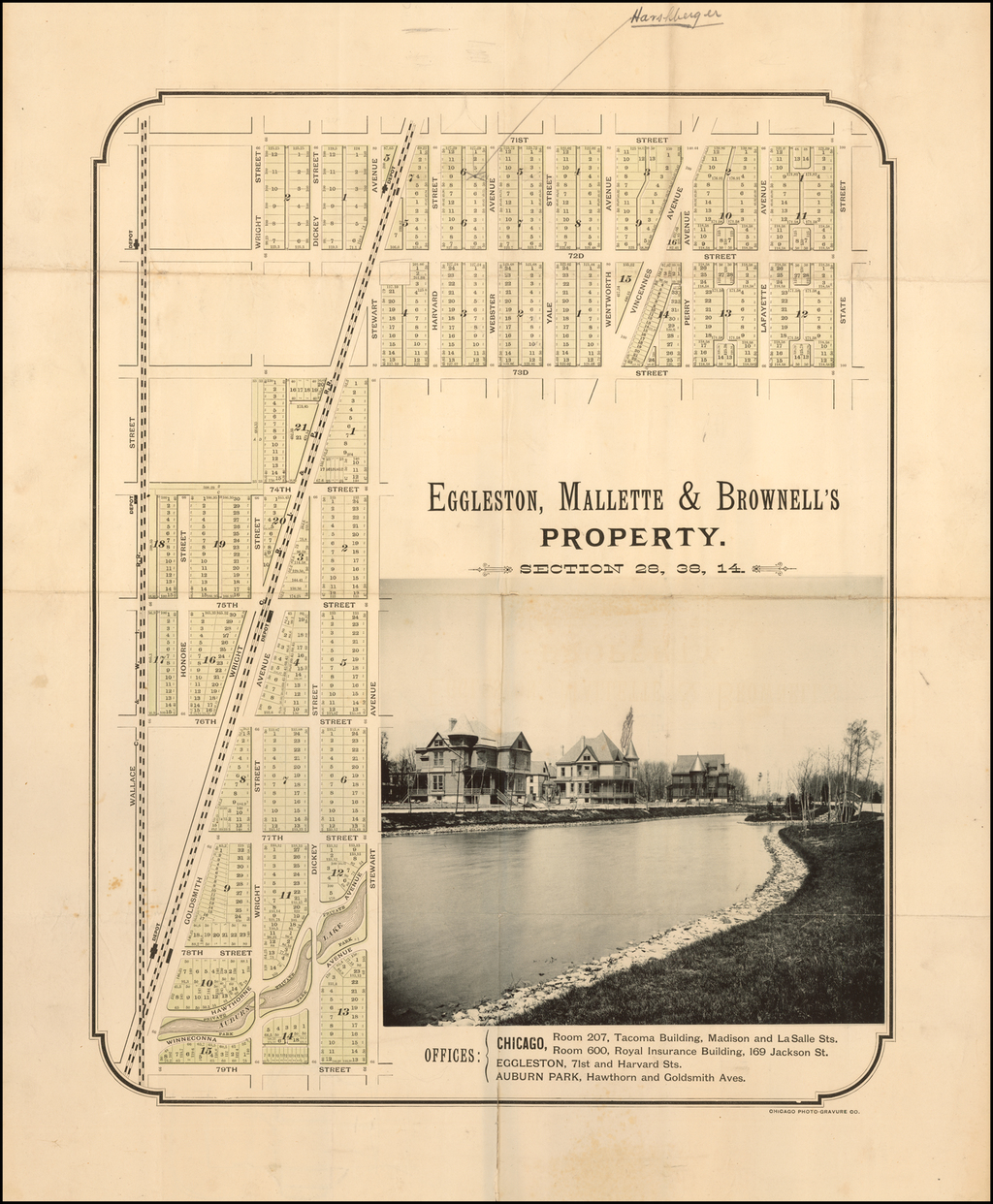 (Auburn Park) Eggleston, Mallette & Brownell's Property By Chicago Photo-Gravure Co.