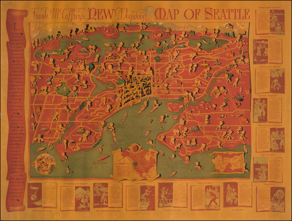 Frank McCaffrey's New Dogwood Map of Seattle By Frank McCaffrey