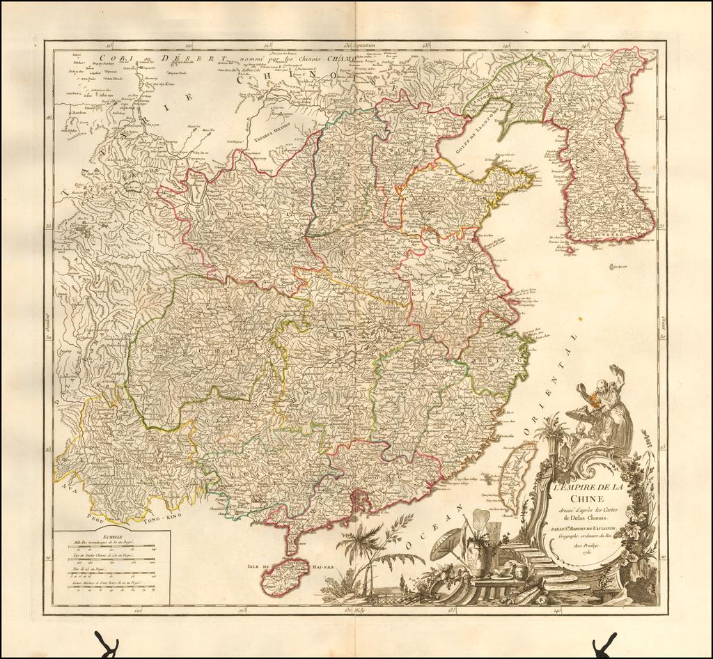 L'Empire De La Chine dresse d'apres les Cartes de l'Atlas Chinois . . . 1751 By Gilles Robert de Vaugondy