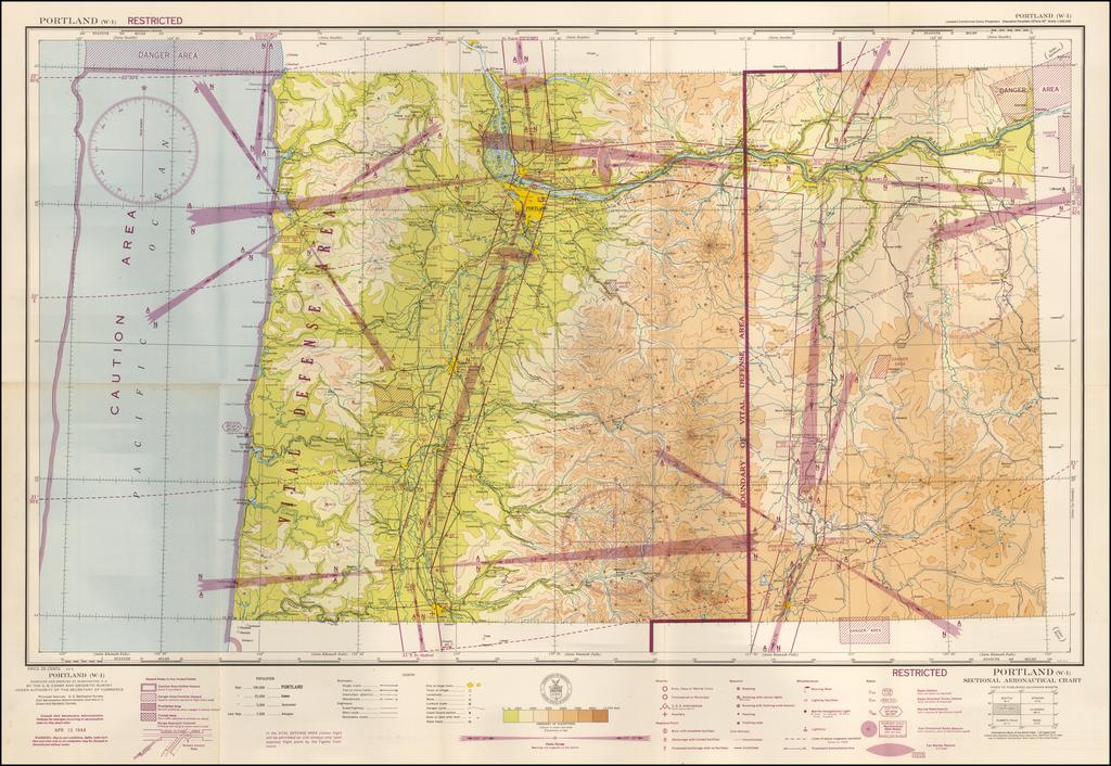 (Restricted) Portland . . . Sectional Aeronautical Chart  By U.S. Coast & Geodetic Survey