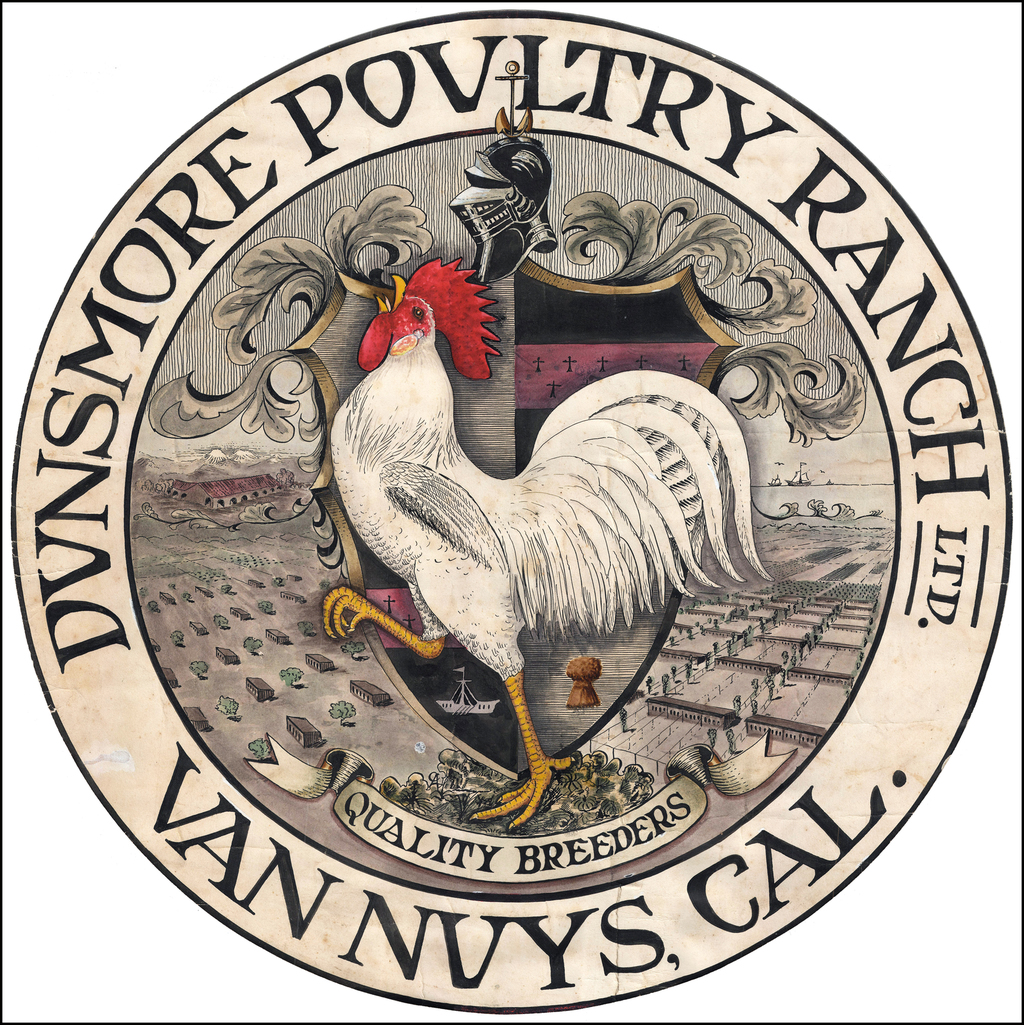 (Southern California Birdseye View)  Dunsmore Poultry Ranch Ltd.  Van Nuys, Cal. By Anonymous