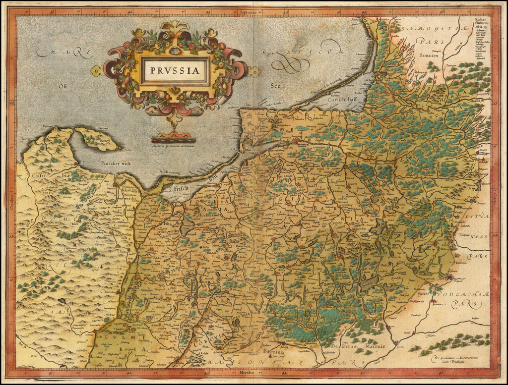Prussia By  Gerard Mercator