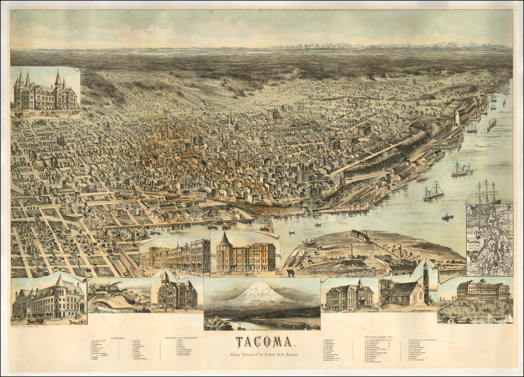 Tacoma.  Western Terminus of the Northern Pacific Railroad By Will Carson