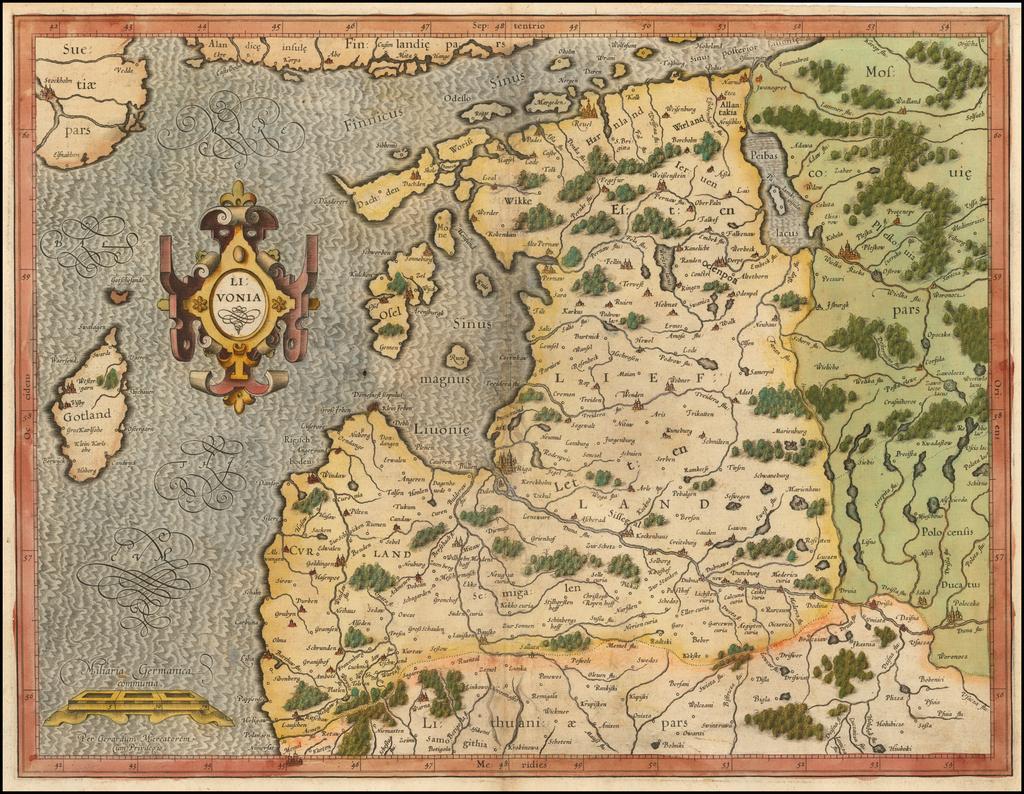 Livonia By  Gerard Mercator