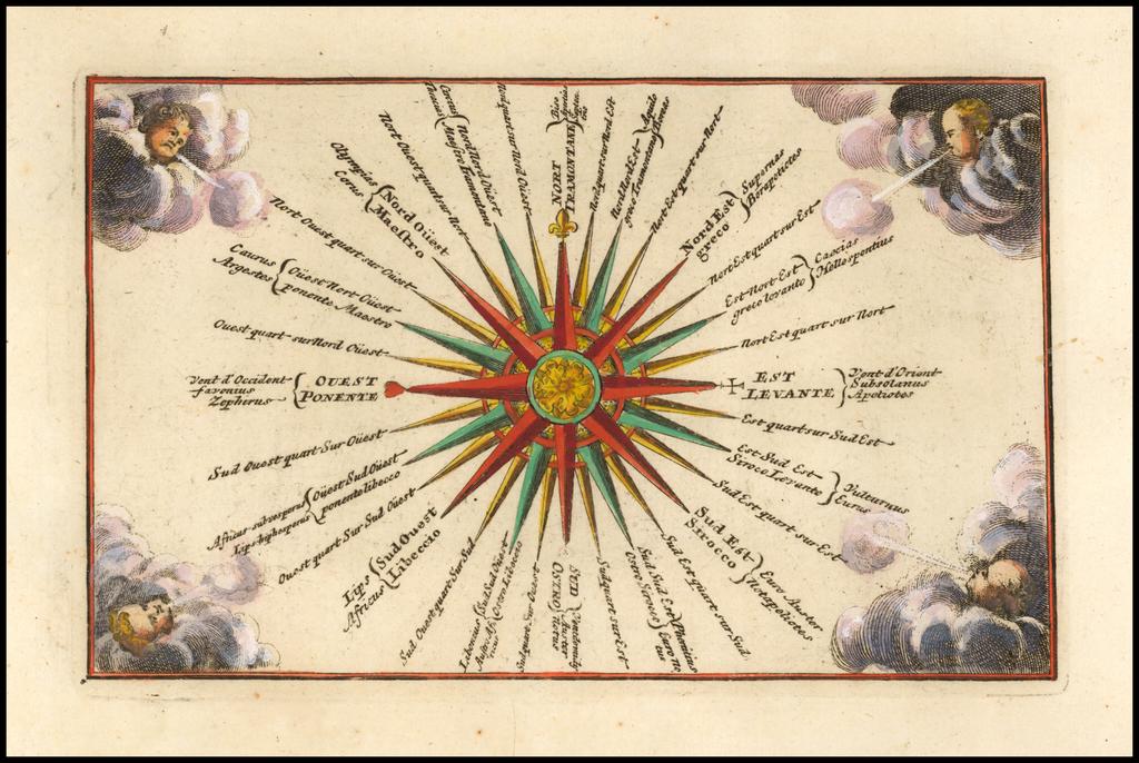 (Compass Rose) By Adam Friedrich Zurner / Johann Christoph Weigel