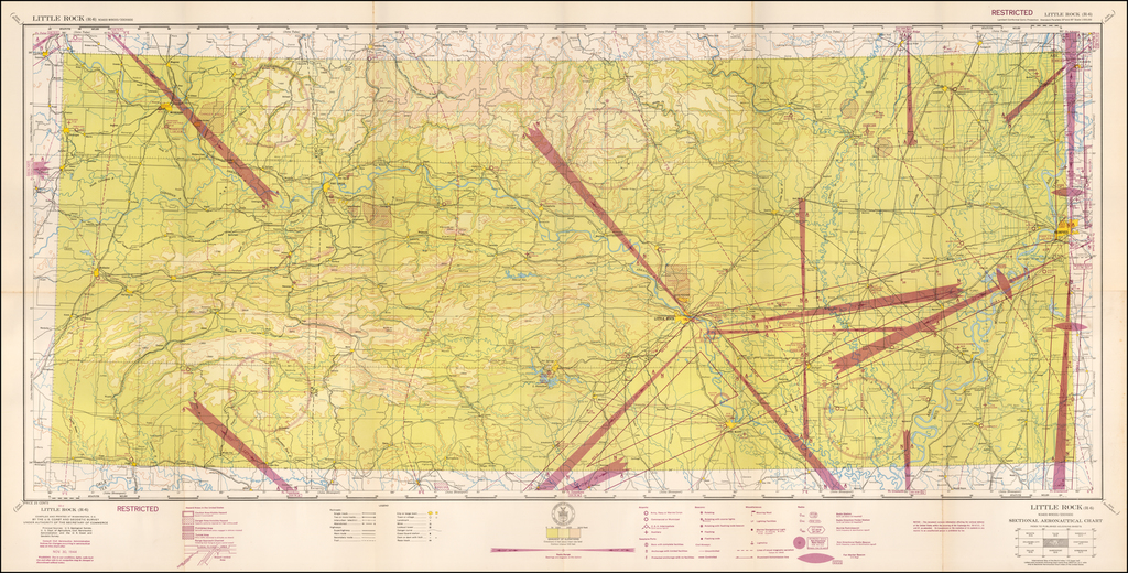 (Restricted) Little Rock. . . Sectional Aeronautical Chart  By U.S. Coast & Geodetic Survey