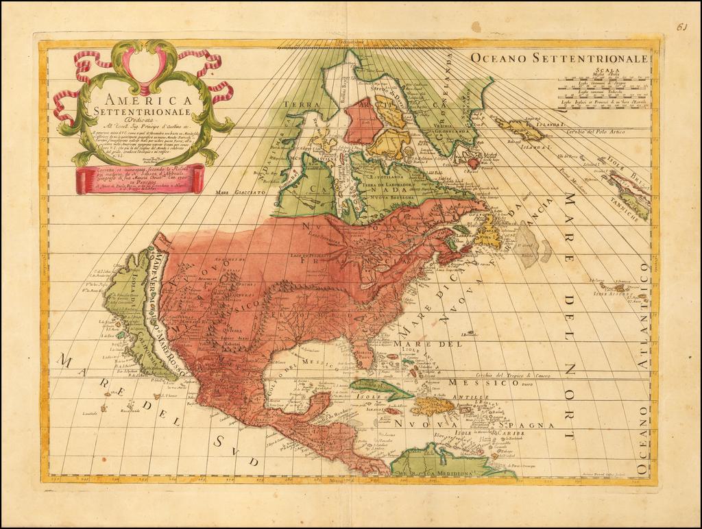 America Settentrionale . . . Corretta et aumentata . . . (California as an Island) By Paolo Petrini