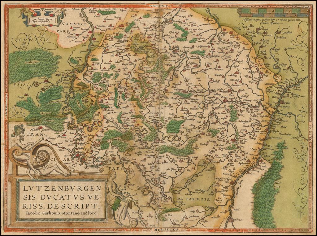 Lutzenburgensis Ducatus Veriss Descript. By Abraham Ortelius