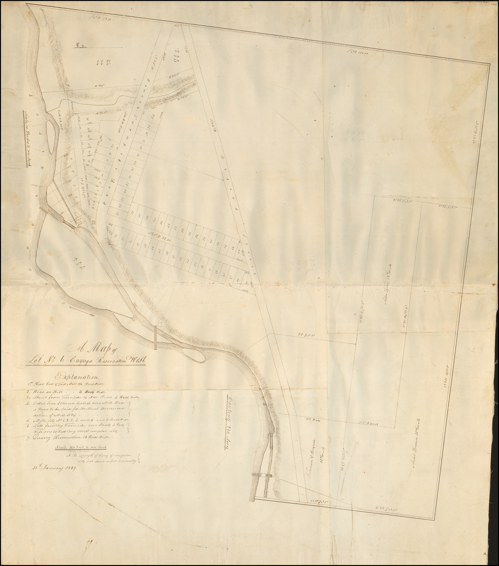 A Map of Lot No. 6 Cayuga Reservation West By Anonymous