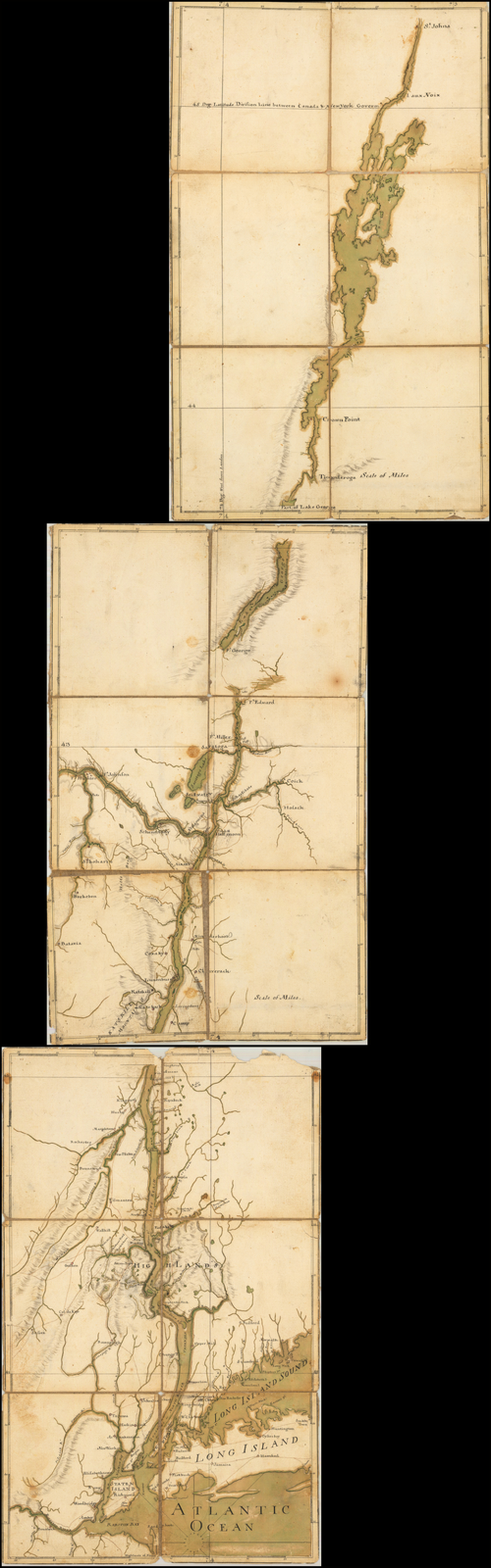[Map From New York to St. John's] By Franz Joseph Pfister