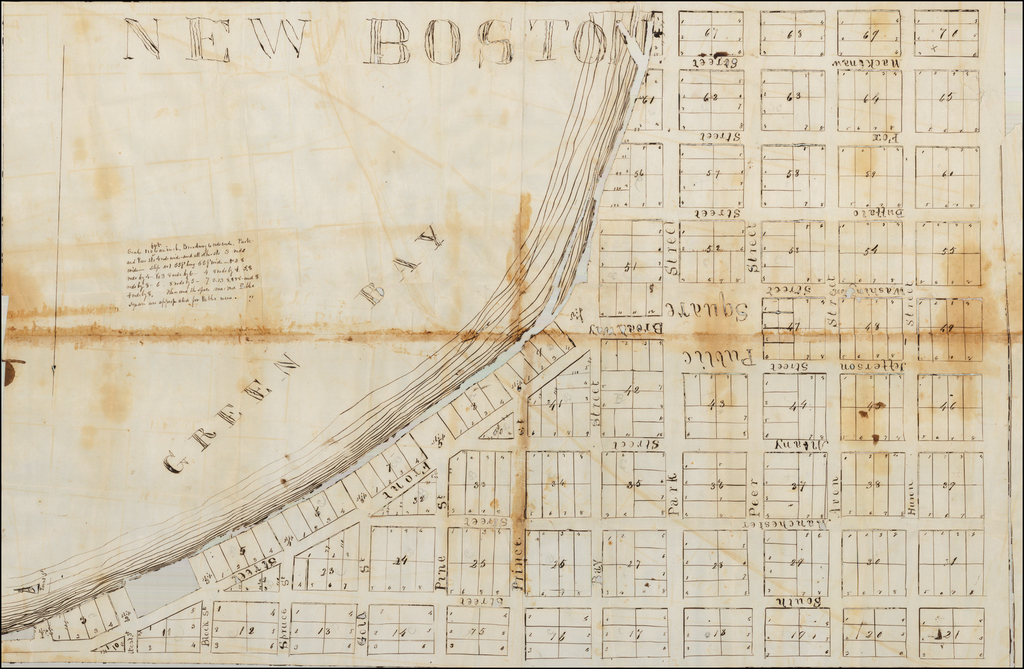 [Wisconsin Territory] New Boston [with papers related to Detroit-based investors in the paper city.] By Anonymous