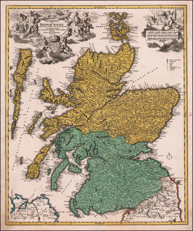 Magnae Britanniae Pars Septentrionalis qua Regnum Scotiae  . . . By Johann Baptist Homann