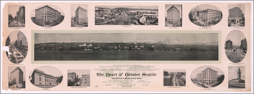 The Heart of Greater Seattle  The Gateway to Alaska and the Orient . . .  By Bill Hudson