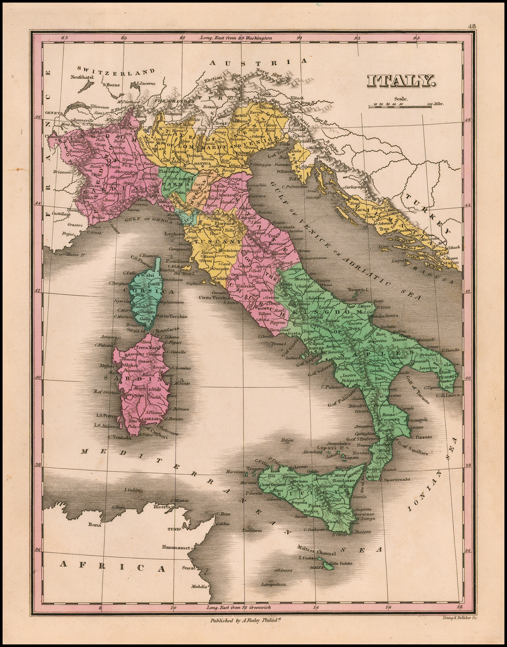 Italy [shows Corsica, Sardinia, Sicily and Malta] - Barry ... on show map of mongolia, show map of canadian provinces, show map of cuba, show map of lebanon, show map of windward islands, show map of oceans, capri italy, italian language map italy, show map of central asia, show map of middle east countries, show map of syracuse, show map of south-east asia, show a map of us, show map of zambia, show a map of time zones, show map of south korea, show a map of central america, show map of macedonia, show map of switzerland, show map of kuwait,